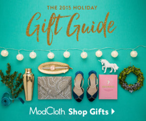 mod cloth gift guide sale holiday promotion affiliate