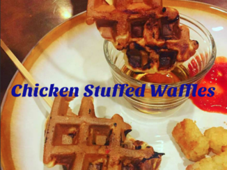 Easy Chicken Stuffed Waffles with Pancetta